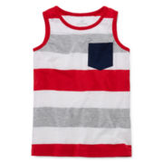 Okie Dokie® Striped Tank Top - Preschool Boys 4-7