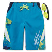 ZeroXposur® Mai Tai Swim Trunk and Goggles - Boys 8-20