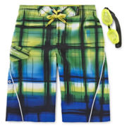 ZeroXposur® Spectrum Swim Trunks and Goggles - Boys 8-20