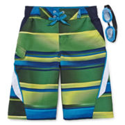ZeroXposur® Lowtide Swim Trunks and Goggles - Boys 8-20