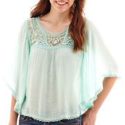 Rewind Elbow-Sleeve Circle Top