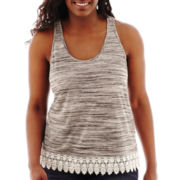 Arizona Crochet-Hem Swing Tank Top - Plus