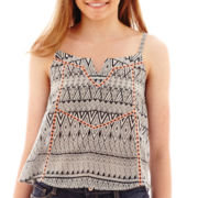 Arizona Sleeveless Aztec Print Woven Top