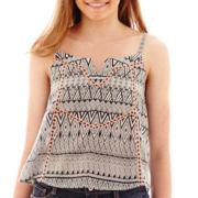 Arizona Sleeveless Aztec Print Woven Top