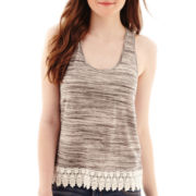 Arizona Crochet-Hem Swing Tank Top