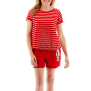 Silverwear™ French Terry T-Shirt or Shorts - Petite