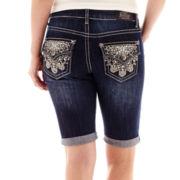 Love Indigo Back Flap Pocket Denim Shorts