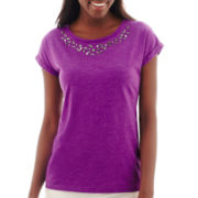 Stylus™ Short-Sleeve Embellished Novelty T-Shirt - Tall