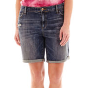 Stylus™ Denim Boyfriend Shorts - Plus