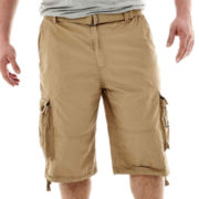 Rigo Enzyme-Washed Twill Cargo Shorts–Big & Tall