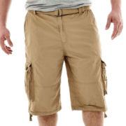 Rigo Enzyme-Washed Twill Cargo Shorts–Big & Tall