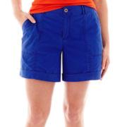 a.n.a® Cuffed Cargo Shorts - Plus