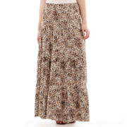 St. John's Bay® Tiered Maxi Skirt