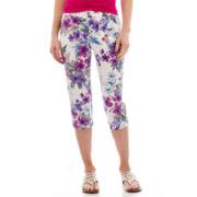 St. John's Bay® Secretly Slender Twill Cropped Pants