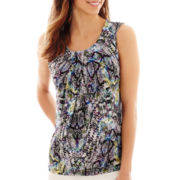Worthington® Drape-Neck Tank Top - Petite