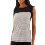 Worthington® Short Pleat-Sleeve Top