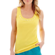 St. John's Bay® Embellished Stud Tank Top