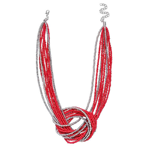 Mixit Clr 0717 Red Womens Strand Necklace