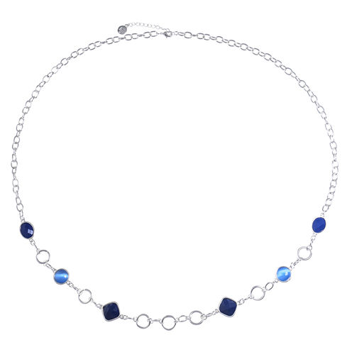 Liz Claiborne Womens Blue Strand Necklace