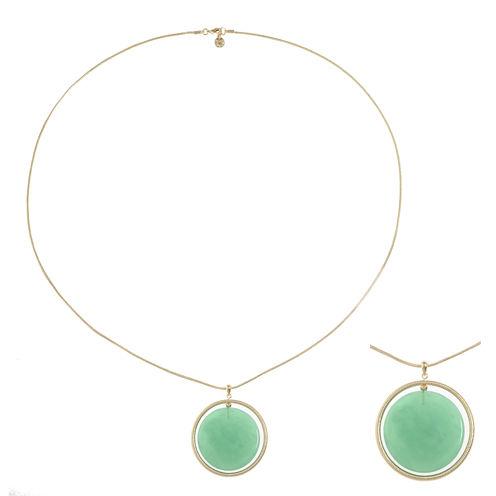 Monet Jewelry Green Pendant
