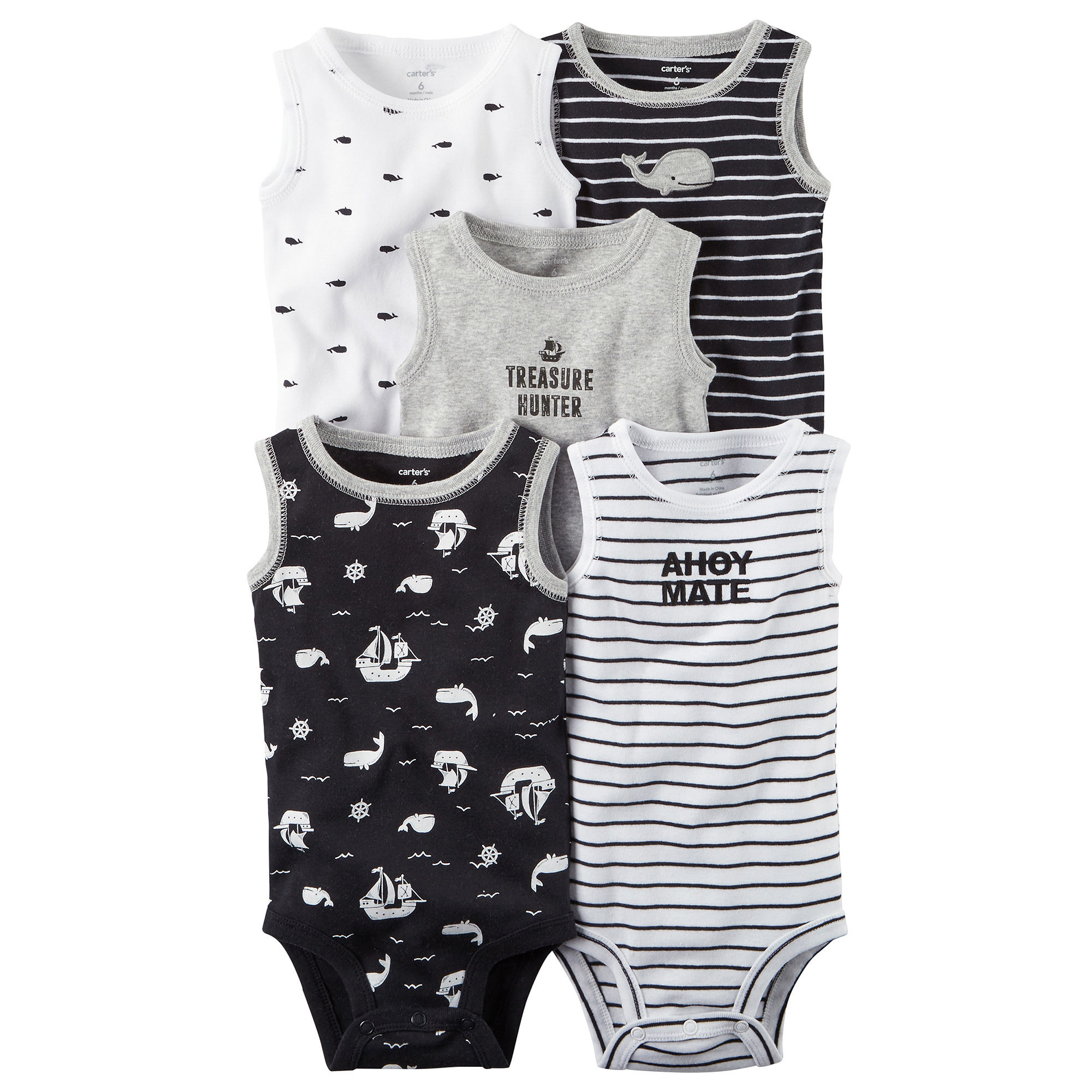 bf96922172d UPC 190796046815 product image for Carter s Boys 5-pc. Bodysuit Set-Baby ...