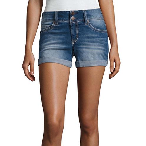 Wallflower Denim Shorts-Juniors