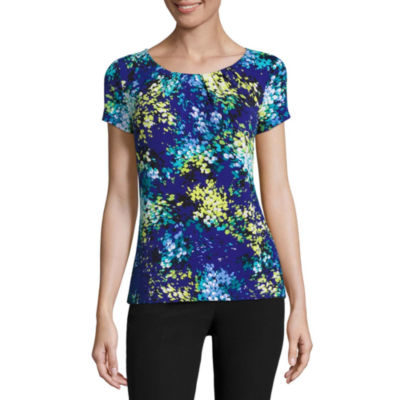 Worthington® Short-Sleeve Scoop Neck T-Shirt - Petites