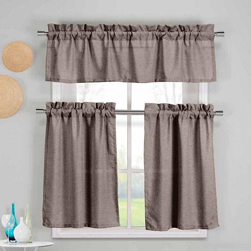 Duck River Textiles Benneton 3-pc. Kitchen CurtainSet