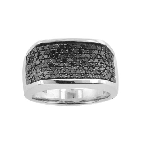 Mens 1 CT. T.W. Color-Enhanced Black Diamond Ring
