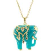 KJL by KENNETH JAY LANE Blue Enamel Elephant Pendant