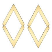 DOWNTOWN BY LANA Gold-Tone Movable Double-V Earrings