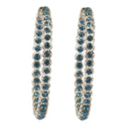 telio! by Doris Panos Sophia Blue Crystal Hoop Earrings