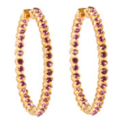 telio! by Doris Panos Sophia Purple Crystal Hoop Earrings