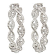 telio! by Doris Panos Sampson Silver-Tone Hoop Earrings