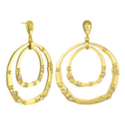 PALOMA & ELLIE Gold-Tone & Crystal Orbital Hoop Earrings
