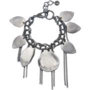 PALOMA & ELLIE Hematite Glass Leaf Charm Bracelet
