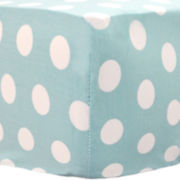 My Baby Sam Aqua Polka Dot Fitted Crib Sheet