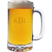 Set of 4 16-oz. Monogrammed Beer Mugs
