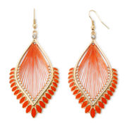 Arizona Orange Threaded Drop Earrings