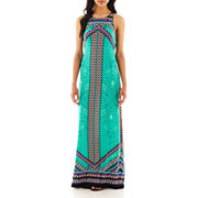Bisou Bisou 174 Sleeveless Print Maxi Dress
