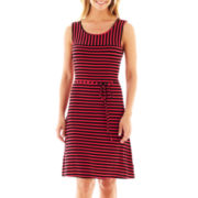 Liz Claiborne® Sleeveless Striped Dress