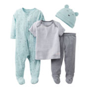 Carter's® Bear 4-pc. Layette Set - Boys Preemie
