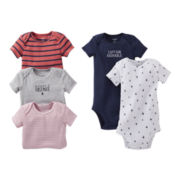 Carter's® Sailboat 5-pk. Short-Sleeve Bodysuits - Boys Preemie