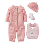 Carter's® Animal Print 4-pc. Layette Set - Girls newborn-6m