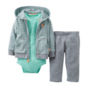 Carter's® Fox 3-pc. Hoodie Set - Boys newborn-12m