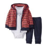 Carter's® Red Sailboat 3-pc. Hoodie Set - Boys newborn-12m