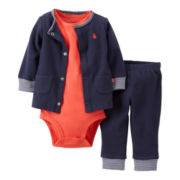 Carter's® Sailboat 3-pc. Cardigan Set - Boys newborn-12m