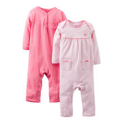 Carter's® 2-pk. Coveralls - Girls newborn-9m