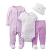 Carter's® Lavender Bear 4-pc. Layette Set - Girls newborn-9m