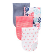 Carter's® Floral 4-pk. Burp Cloths